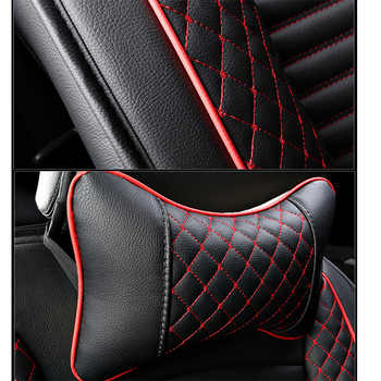 (Front+Rear) PU Leather auto universal car seat covers for KIA RIO peugeot lada kalina vw golf 4 5 6 7 ford focus 2 opel styling
