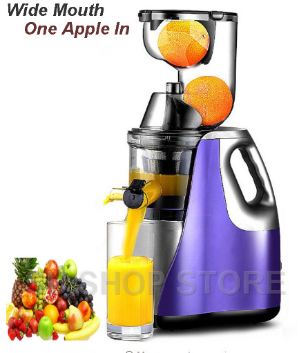 Motor Technology New Large Mouth Slow Juicer Fruit Vegetable Citrus Low Speed Juice Extractor slow juicer fruit vegetable citrus low speed juice extractor squeezer soymilk higher juice rate