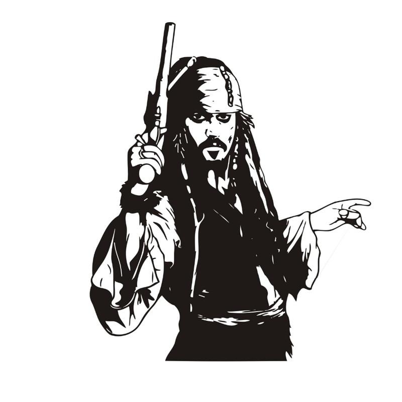 Капитан Джек Воробей стены Стикеры виниловая наклейка Пираты Книги по искусству Приключения Аксессуары для дома детская комната Спальня Д...