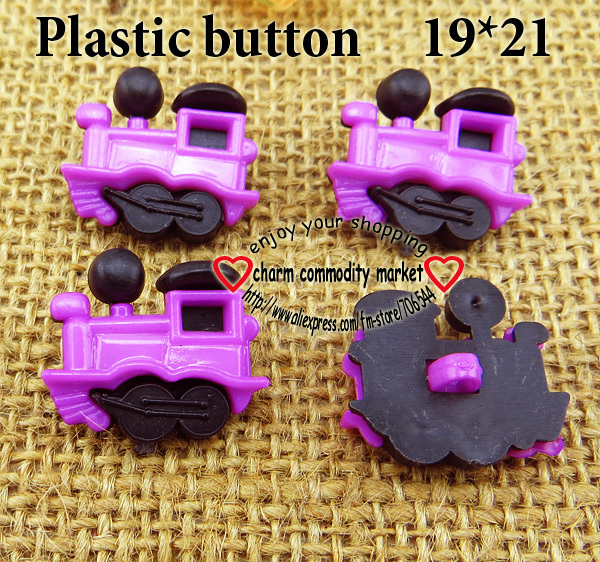 50PCS black Bottom purple Dyed Plastic Train buttons coat boots sewing clothes accessories P-119-3