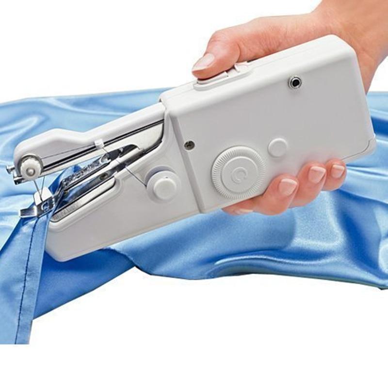 Elektrische Handheld Nähmaschine Mini Tragbare Batterie Powered Handliche Stitching Kleidung Nähen Werkzeug Für Reise Hause Verwenden-in Gebäudeautomation aus Sicherheit und Schutz bei