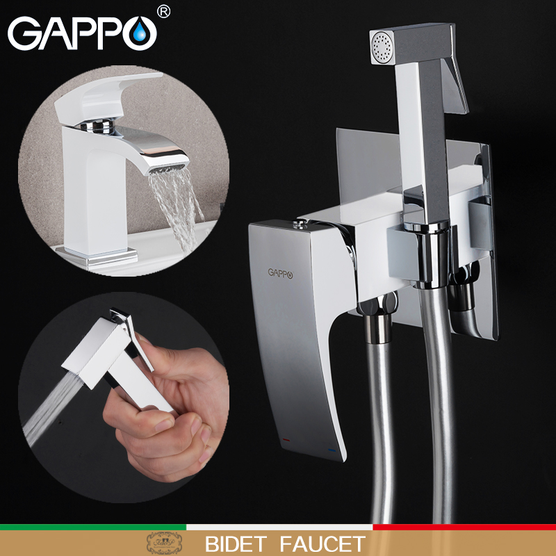 GAPPO Sanitary Ware Suite brass basin taps with bidet faucets torneira do anheiro bathroom system shower mixers toilet taps