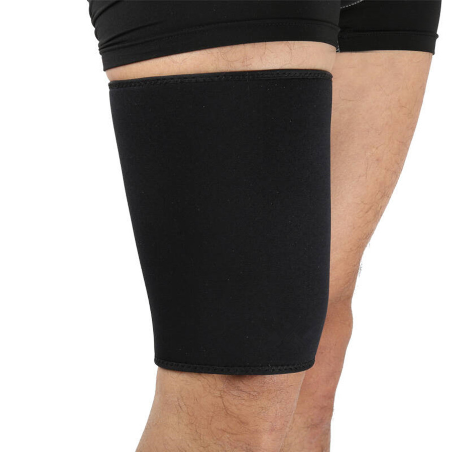 Men Body Shapers Calf Legs Sleeves Slimming Thigh Sleeve Fitness Warmers Support Compression Stretch Hamstring Protector Safety image