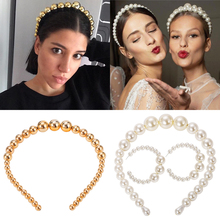 Girlgo 2019 Ttrendy Full Pearl Headbands For Women Luxury Headwear Hairpins Charm Barrettes HairClips Romantic Headdress Jewelry