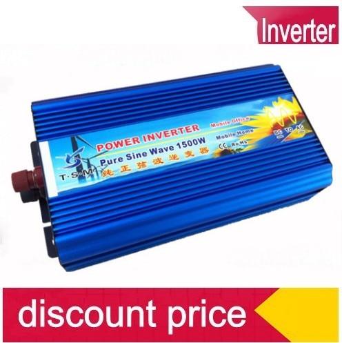 цена на 1500W Pure Sine Wave Power Inverter,DC/AC Inverter For Wind/ Solar PV System,DC12/24/48V to AC110-120V, AC220- 240V,CE Approval
