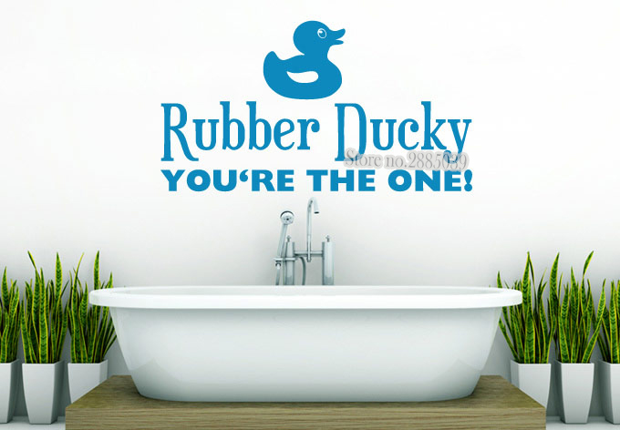 Aliexpress Com Buy Diy Wall Decals Rubber Ducky You Re