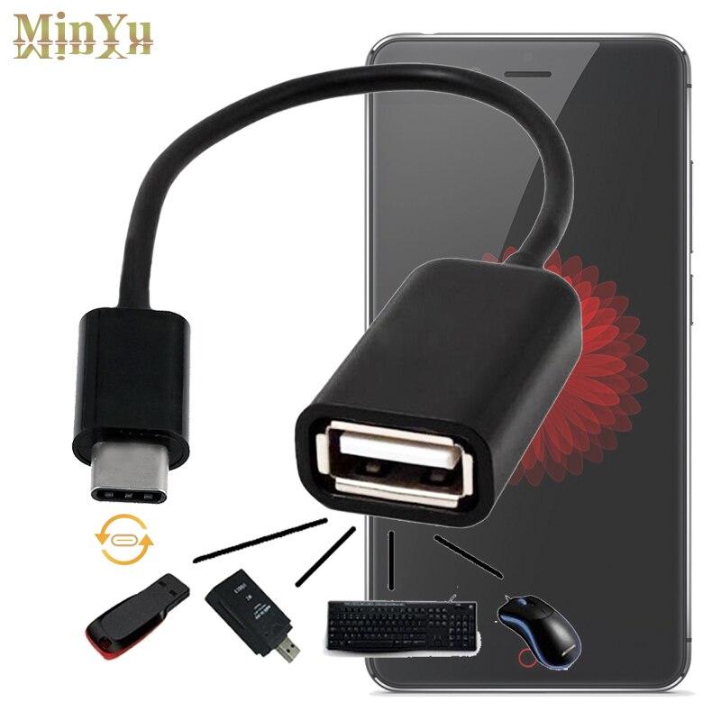 USB Type C Мужчин и USB 2.0 Кабель-Адаптер OTG Синхронизация данных Зарядное Устройство Зарядки Разъем для ZTE Zmax Pro/Nubia N1/Z11/Z11 макс/Z11mini