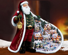 full Diy 5d Diamond Painting Santa Claus  Embroidery Set Mosaic Home Decorative Beauty Christmas Gift