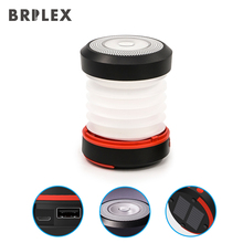 BRILEX Solar Lantern Portable Lamps Rechargeable collapsible and inflatable Lamp Waterproof Charger.
