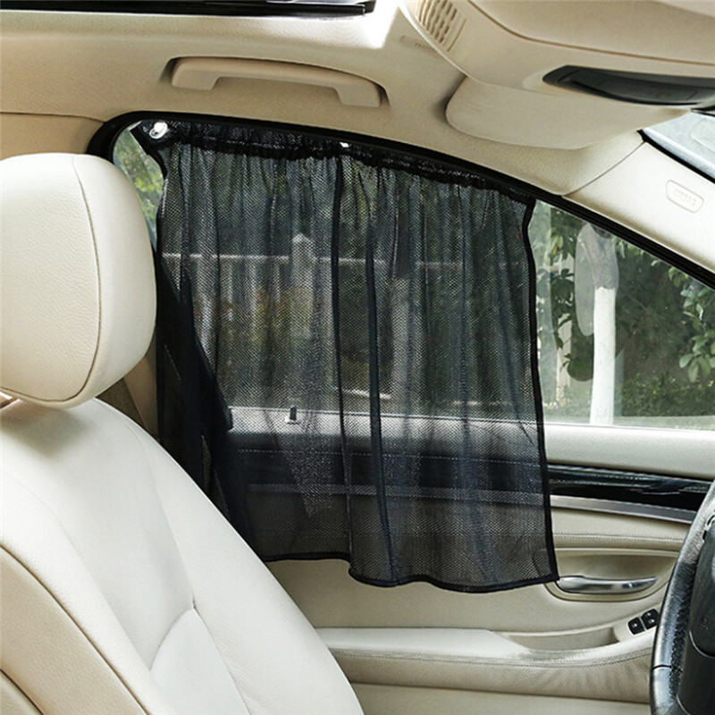Car Windshield Sun Shade 2PCS Window Curtain With Suckers Car Visor Protection