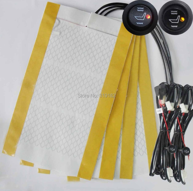 100/100 positive feedback@2 seats install,Round switch alloy wire seat heater kit,heated seat kit.switch,carbon fibre