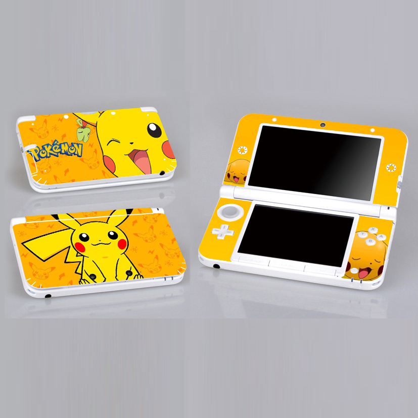 PikaPika P01 Vinyl Skin Sticker Protector for 3DS XL LL skins Stickers