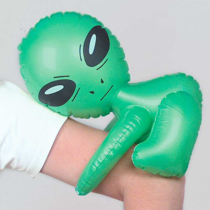 3 Pcs/set Green Alien Model Inflatable Toys Cute Carpet Toys Nursery Play Game Halloween/Birthday Decoration Prop Party Supplies