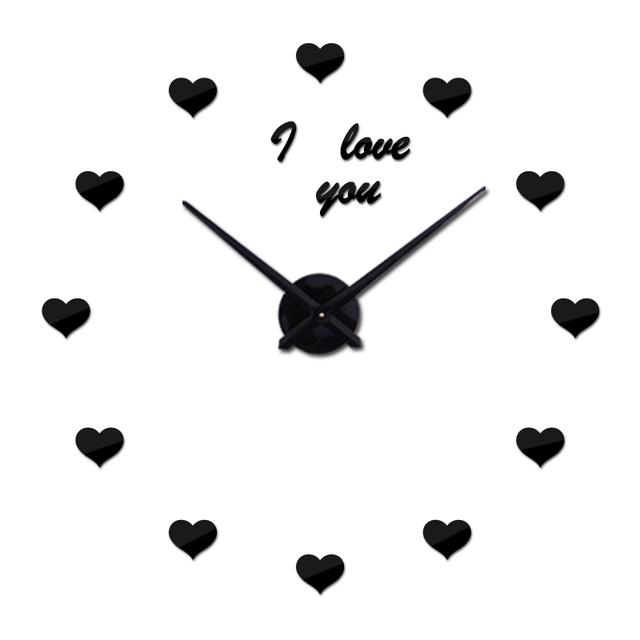 2017 new wall clock modern design reloj de pared quartz watch large decorative clocks europe living room acrylic 3d stickers