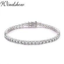 3mm 925 Sterling Silver Cluster Round AAA CZ Zironia Tennis Bracelets Pulseras Pulseira Bracelete Women Jewelry Girl Friend Gift