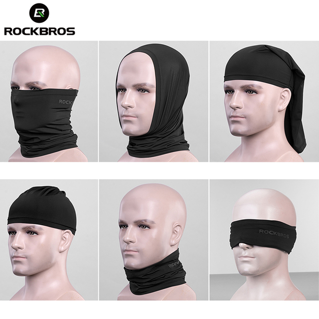 ROCKBROS Absorb Sweat Hiking Scarves Bandana Breathable Camping Scarf Neck Gaiter Running Cycling Bicycle Bandana Men Face Mask 3