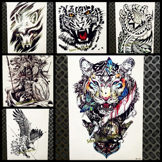 Cool Tiger King Design Waterproof Temporary Removable Tattoo Men