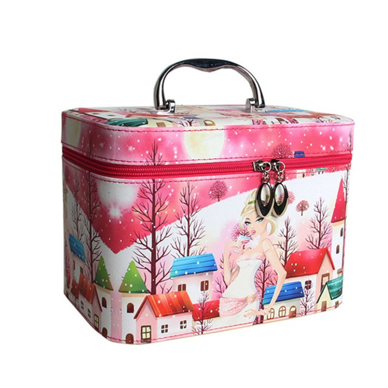 2018 Cute high-capacity fashion portable cosmetic case professional cosmetic bag casual travel bag caja cosmeticos Storage bag