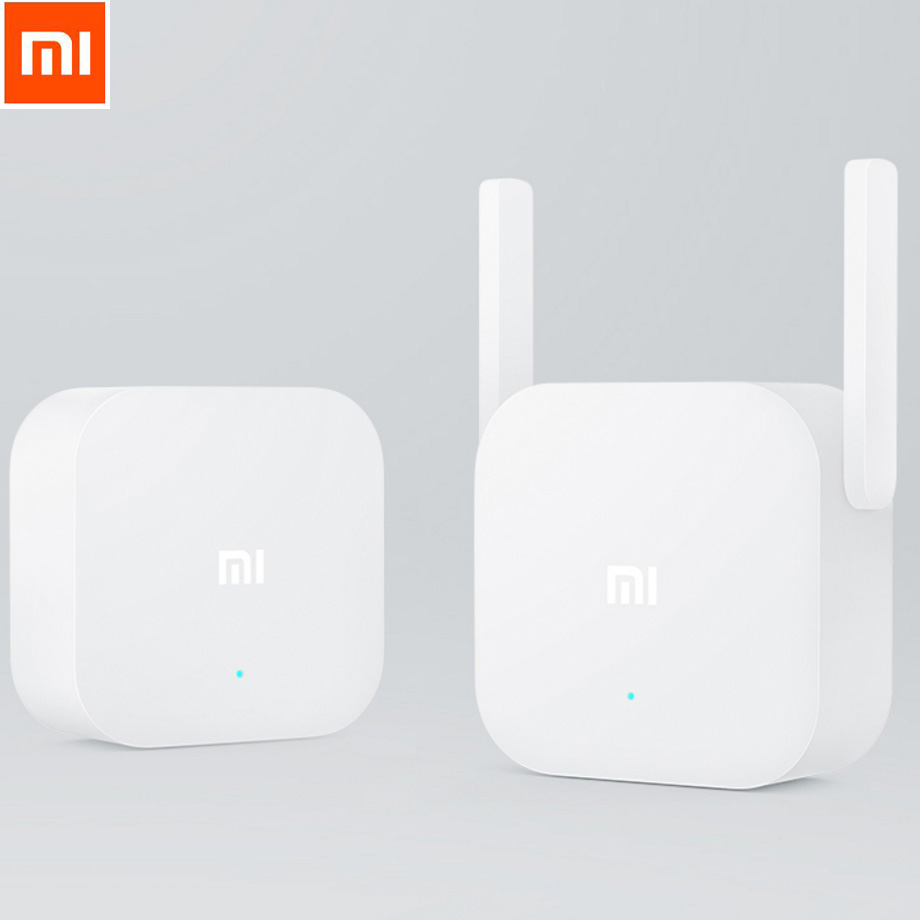 цена на Original Xiaomi WIFI Home Plug 2.4G 300Mbps Wireless Wi-Fi Repeater Network Router 802.11N Dual Antennas Signal Amplifier