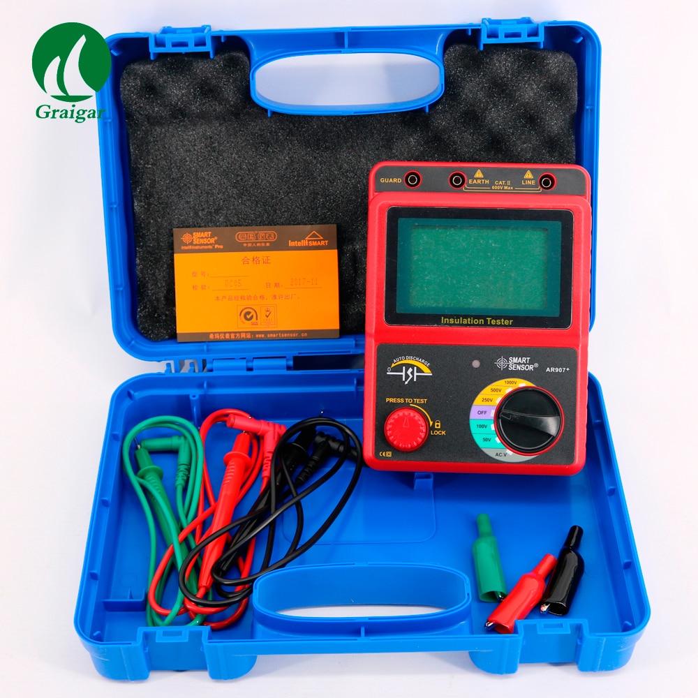 AR907+ Digital Insulation Resistance Tester Meter Voltage meter Megger Test Meter Price 2017 mastech ms5203 digital megger insulation tester resistance meter tecrep 10g 1000v ac dc voltage continuity electrical test