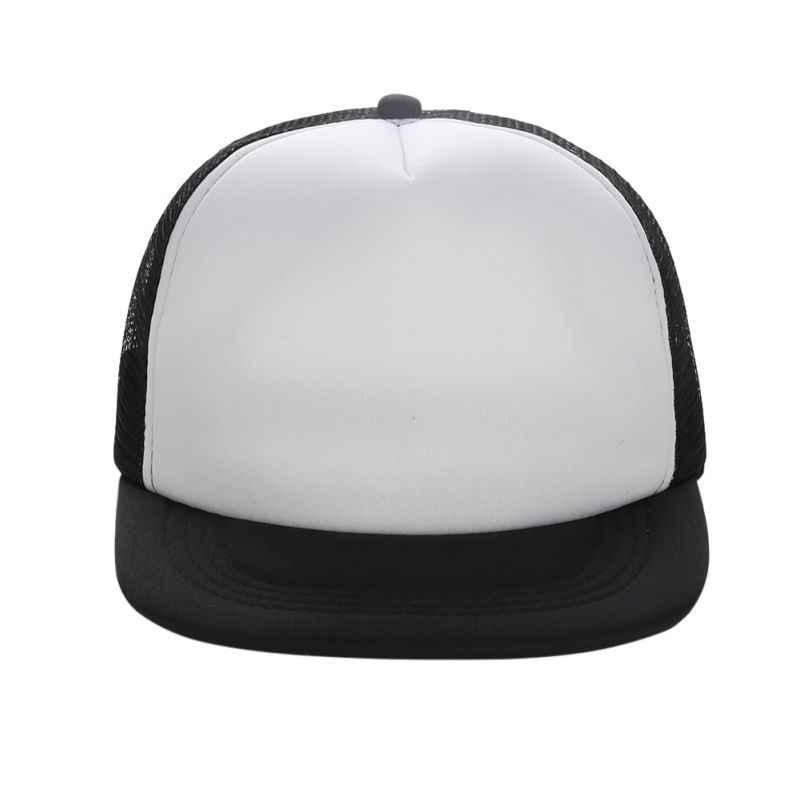 3e0669f842874 ... Flat Brim Blank Plain Baseball Cap Hip Hop Women Men Mesh Snapback  Strapback Trucker Hat Bone ...
