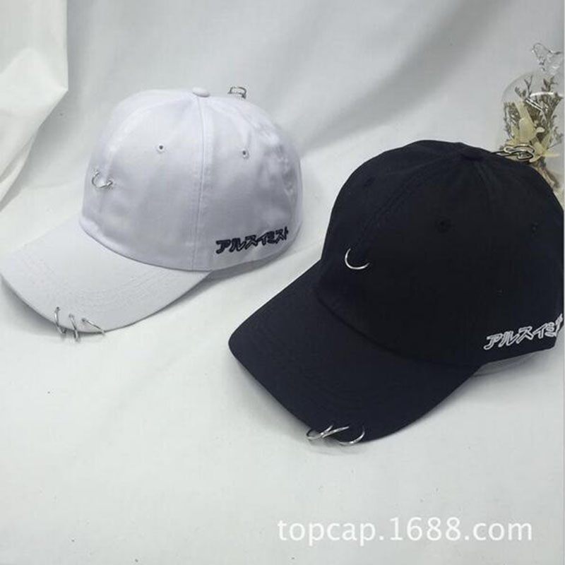 2017 New Creative Piercing Ring   Baseball     Cap   Punk Gorras Bone Masculino Feminino Basebol HipHop Base Fashion Ball   Caps   Unisex
