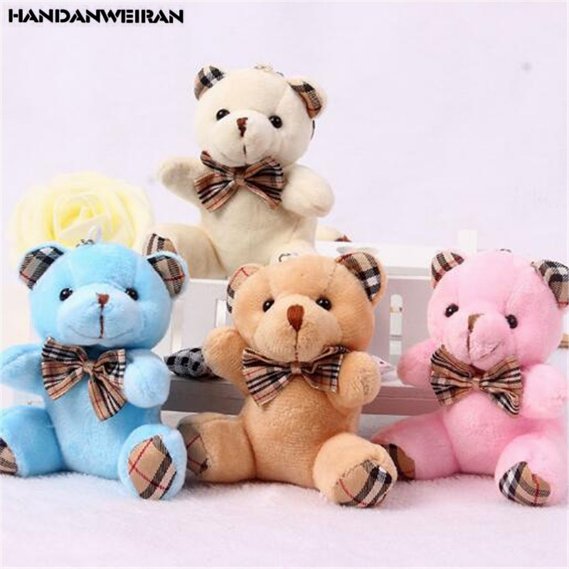 Cartoon Bouquet Toy Doll Bear-Toys Gift Plush Soft Stuffed Wedding Plaid Small Sitting title=