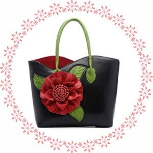 1d816e84563b Ladsoul Элегантные женские кожаные сумки роскошные женские сумки цветочный  дизайн женские сумки на плечо 2017 известных брендовых дамских тоут ls4996 g