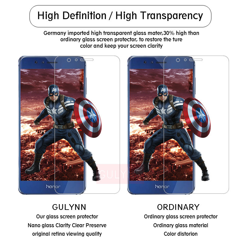 0 3mm 9H Ultra Thin Tempered Glas for Huawei P20 P30 LITE HONOR 10 20 20i 8C 8X 8A 9 LITE Explosion Proof Screen Protector Guard in Phone Screen Protectors from Cellphones Telecommunications
