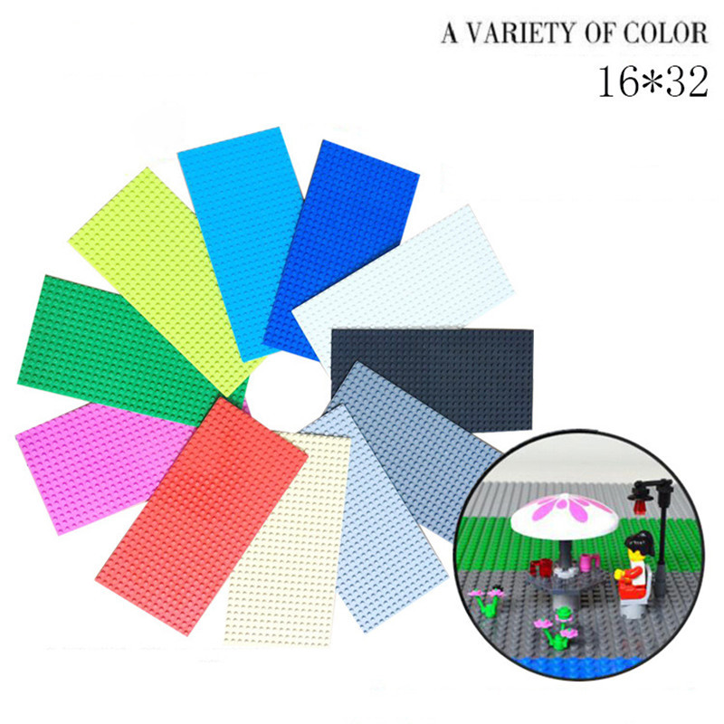 9 Colors Available 16x32 Dots Diy Block Base Plate for Compatible With Legoingly Figure Floors Toys For Children Brinquedos gift umeile 9 colors 8 16 dots 25 6 12 5cm