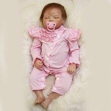 Silicone Bebê Reborn 55 cm YDK-74R1 Bebes Reborn Realista de Silicone Boneca para as meninas Do Bebê Casa de Jogo de Presente de Natal Coleção