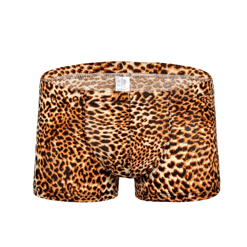 Underwear Mens Panties Boxer-Shorts Printed Cueca Gay Sexy Breathable Leopard Soft Homme