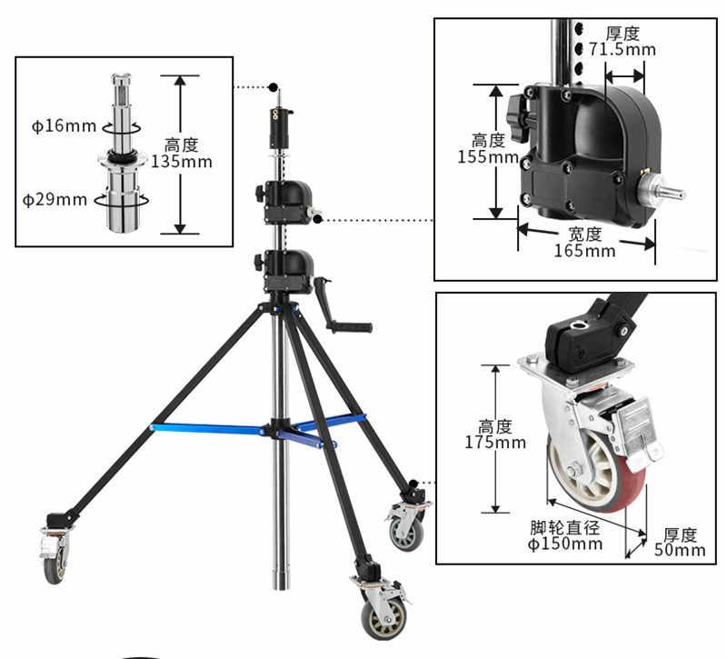 BM-395 Heavy Duty фотолампа подъемная рама ручной Поддержка студия рекламы стрелковый пояс шкив CD50 T07