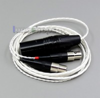 LN006163 1.5m 4pin XLR Balanced 4*100 Cores OCC Pure Silver Plated Headphone Cable For Audeze LCD 3 LCD3 LCD 2 LCD2
