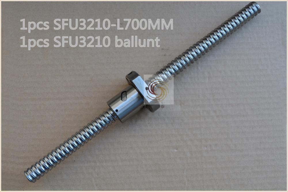 diameter 32mm ball screw SFU3210 length 700mm plus RM3210 ball nut CNC DIY Carving machine 1pcs diameter 32mm ball screw sfu3210 length 900mm plus rm3210 ball nut cnc diy carving machine 1pcs