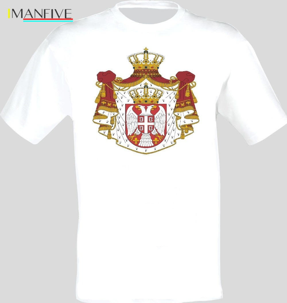 Coat Of Arms Of The Serbia Serbian Arms Flag T Shirt All Sizes 2019 Fashion Brand Men 39 s Tops StreetWear T shirt Solid Color in T Shirts from Men 39 s Clothing