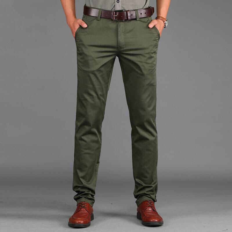 2019 tavaszi alkalmi férfi nadrág vékony nadrág Slim Fit 97% - Férfi ruházat - Fénykép 1