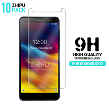 10 Pcs Tempered Glass For DOOGEE X100 Screen Protector 2.5D 9H Premium Protective Film