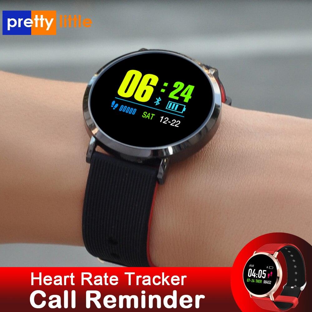Inteligente Relógio Das Mulheres Dos Homens android Smartwatch Rastreador de Fitness inteligente da Frequência Cardíaca Pressão Arterial X88 à prova d' água relógio esportivo