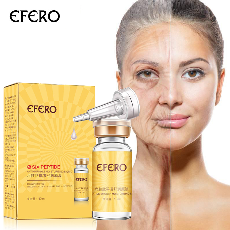 efero Argireline Six Peptides Serum for Face Cream Anti Wrinkle Aging Hyaluronic Liquid Whitening Cream Moisturizing Skin Care