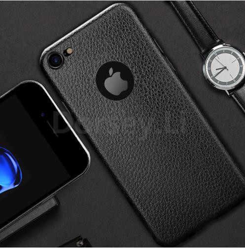 יוקרה נרתיק עור עבור Apple iphone 6s מקרה iphone 7 כיסוי רך סיליקון אופנה לגבר חזרה כיסוי עבור iphone 6 7 8 בתוספת תא