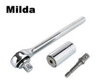 Milda 7 19mm Universal Magic Socket Wrench Multi Function Hand Tool Set Repair Kit Screwdriver Wrench