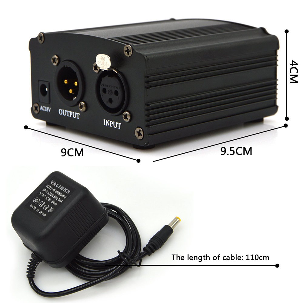 48V-DC-Phantom-Power-Supply-Genuine-Professional-For-Studio-Recording-Condenser-Microphone-Computer-US-Plug-Free (6)