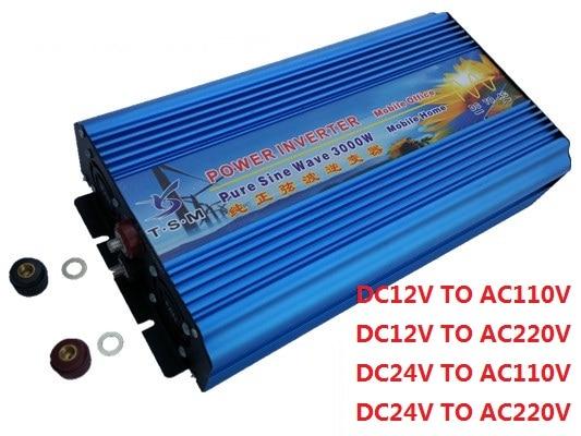 dual digital display 3000W DC24V to AC120V 60hz Off Grid Pure Sine wave inverter 1500w solar off grid pure sine wave power inverter dc24v to ac220v 50hz peak 3000w dual digital display