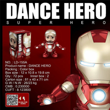 pop Iron man action figure toys Tony Stark mark 85 Superhero Avengers PVC Figure Solar Energy dance Led 12cm figures model