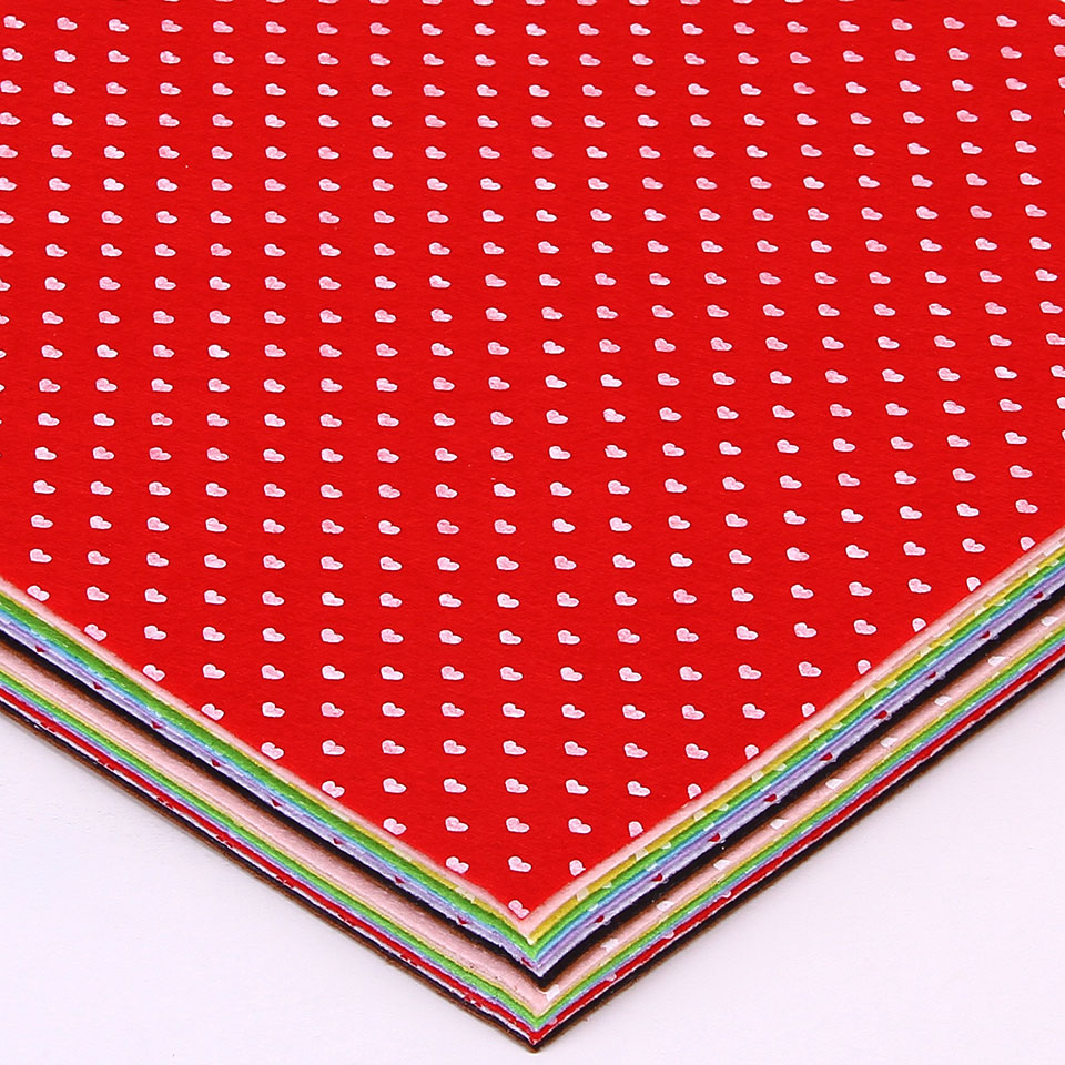 Felt craft book - Heart Printed Felt Non Woven Fabric 30x30cm Polyester Cloth Sewing Dolls Craft Diy Felt Book