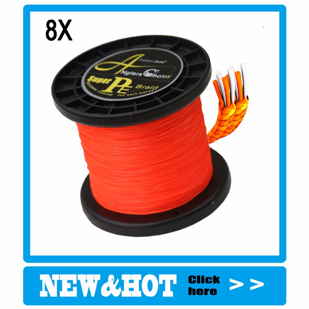 Anglers Choice 8 Strands Braided Fishing Line 500m Super Strong Japanese Braided Line Multifilament  Polyethylene PE Braid Line