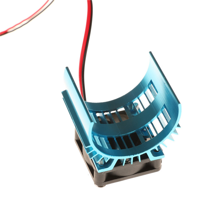 Niebieskie części do zdalnego sterowania elektryczny radiator silnika samochodu pokrywa + wentylator do 110 samochód zdalnie sterowany HSP 540 550 3650 rozmiar rozpraszacz ciepła silnika