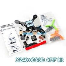 X240 Fiberglass Mini Drone FPV Quadcopter Aircraft w/ CC3D Flight Control Board Motor ESC ARF Kit