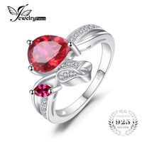 Fashionable Stylish Hot Sale Sexy Promotion Symbols Antique Top Quality Girl S Ruby Ring 925 Sterling